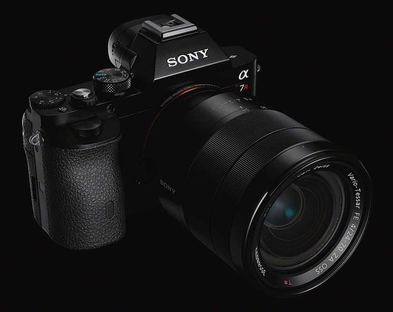 Sony-Alpha-7-camera-black-background